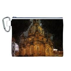 Dresden Frauenkirche Church Saxony Canvas Cosmetic Bag (l)