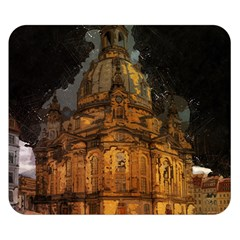 Dresden Frauenkirche Church Saxony Double Sided Flano Blanket (small)