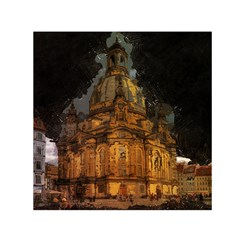 Dresden Frauenkirche Church Saxony Small Satin Scarf (square)