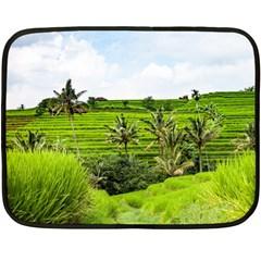 Bali Rice Terraces Landscape Rice Double Sided Fleece Blanket (mini)