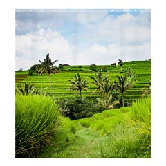 Bali Rice Terraces Landscape Rice Shower Curtain 66  X 72  (large)