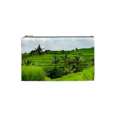 Bali Rice Terraces Landscape Rice Cosmetic Bag (small)