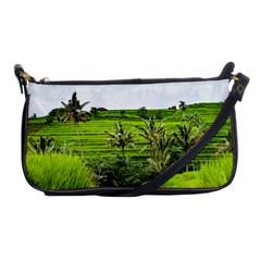 Bali Rice Terraces Landscape Rice Shoulder Clutch Bags