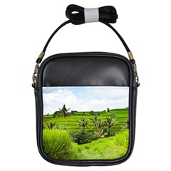 Bali Rice Terraces Landscape Rice Girls Sling Bags