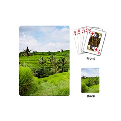 Bali Rice Terraces Landscape Rice Playing Cards (mini)
