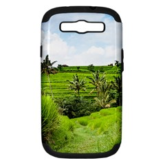 Bali Rice Terraces Landscape Rice Samsung Galaxy S Iii Hardshell Case (pc+silicone)