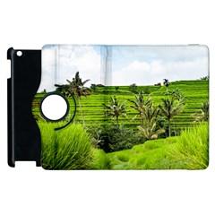 Bali Rice Terraces Landscape Rice Apple Ipad 3/4 Flip 360 Case