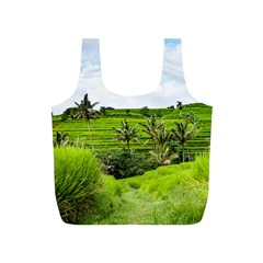 Bali Rice Terraces Landscape Rice Full Print Recycle Bags (s)