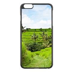 Bali Rice Terraces Landscape Rice Apple Iphone 6 Plus/6s Plus Black Enamel Case