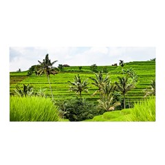 Bali Rice Terraces Landscape Rice Satin Wrap