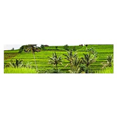 Bali Rice Terraces Landscape Rice Satin Scarf (oblong)