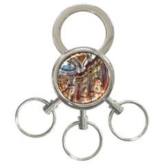 Baroque Church Collegiate Church 3 Ring Key Chains