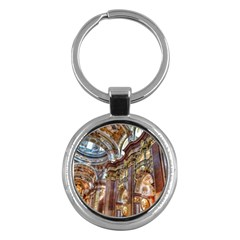 Baroque Church Collegiate Church Key Chains (round)