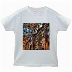 Baroque Church Collegiate Church Kids White T Shirts