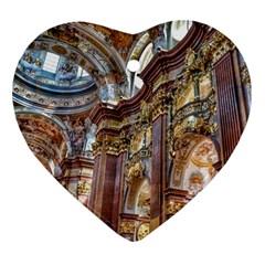 Baroque Church Collegiate Church Heart Ornament (two Sides)