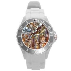 Baroque Church Collegiate Church Round Plastic Sport Watch (l)