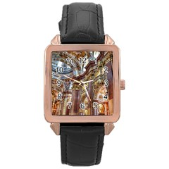 Baroque Church Collegiate Church Rose Gold Leather Watch