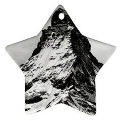 Matterhorn Switzerland Mountain Ornament (star)