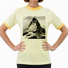 Matterhorn Switzerland Mountain Women s Fitted Ringer T Shirts