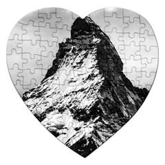 Matterhorn Switzerland Mountain Jigsaw Puzzle (heart)