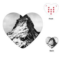 Matterhorn Switzerland Mountain Playing Cards (heart)