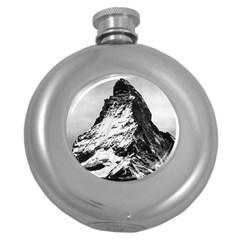 Matterhorn Switzerland Mountain Round Hip Flask (5 Oz)