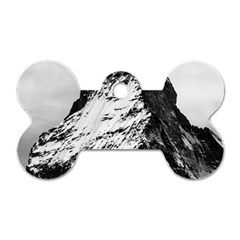 Matterhorn Switzerland Mountain Dog Tag Bone (one Side)