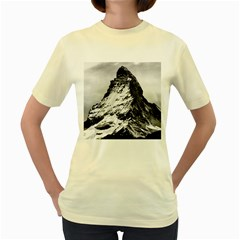 Matterhorn Switzerland Mountain Women s Yellow T Shirt