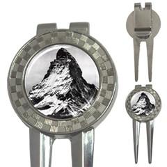 Matterhorn Switzerland Mountain 3 In 1 Golf Divots