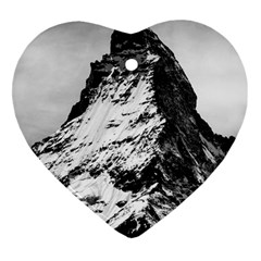 Matterhorn Switzerland Mountain Heart Ornament (two Sides)