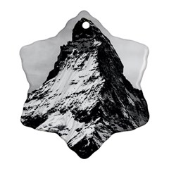 Matterhorn Switzerland Mountain Ornament (snowflake)