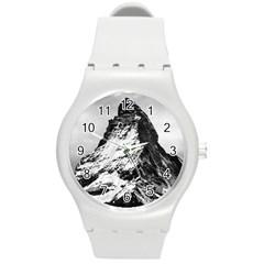Matterhorn Switzerland Mountain Round Plastic Sport Watch (m)