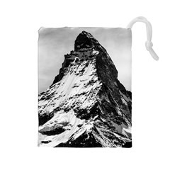 Matterhorn Switzerland Mountain Drawstring Pouches (large)