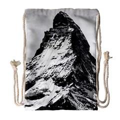 Matterhorn Switzerland Mountain Drawstring Bag (large)