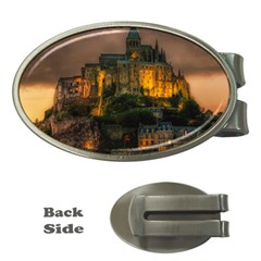 Mont St Michel Sunset Island Church Money Clips (oval)