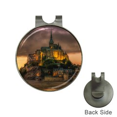 Mont St Michel Sunset Island Church Hat Clips With Golf Markers