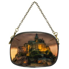 Mont St Michel Sunset Island Church Chain Purses (two Sides)