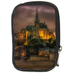 Mont St Michel Sunset Island Church Compact Camera Cases