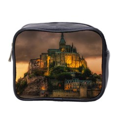 Mont St Michel Sunset Island Church Mini Toiletries Bag 2 Side