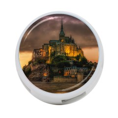 Mont St Michel Sunset Island Church 4 Port Usb Hub (two Sides)