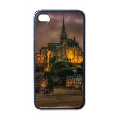 Mont St Michel Sunset Island Church Apple Iphone 4 Case (black)