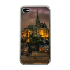 Mont St Michel Sunset Island Church Apple Iphone 4 Case (clear)
