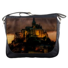 Mont St Michel Sunset Island Church Messenger Bags