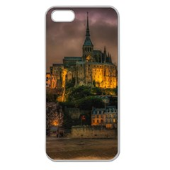 Mont St Michel Sunset Island Church Apple Seamless Iphone 5 Case (clear)
