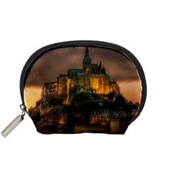 Mont St Michel Sunset Island Church Accessory Pouches (small)