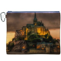 Mont St Michel Sunset Island Church Canvas Cosmetic Bag (xxxl)
