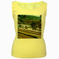 Rice Terrace Rice Fields Women s Yellow Tank Top