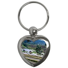 Rice Terrace Rice Fields Key Chains (heart)