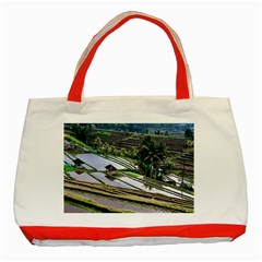 Rice Terrace Rice Fields Classic Tote Bag (red)