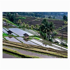 Rice Terrace Rice Fields Large Glasses Cloth